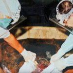 Orličtí vrazi, odvoz těl obětí k Orlíku, parkoviště, Orlická přehrada