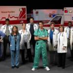 Pohotovost, ER, Emergency Room, seriál, parkoviště sanitek, nadzemka
