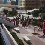 Dobytí Planety opic, Caesar, exteriéry města, záběr č.2, University of California Irvine