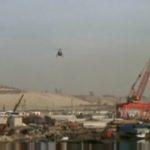 Útěk z Planety opic, přílet helikoptér, přístavSan Pedro