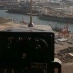 Útěk z Planety opic, přistání druhé helikoptéry, přístavSan Pedro